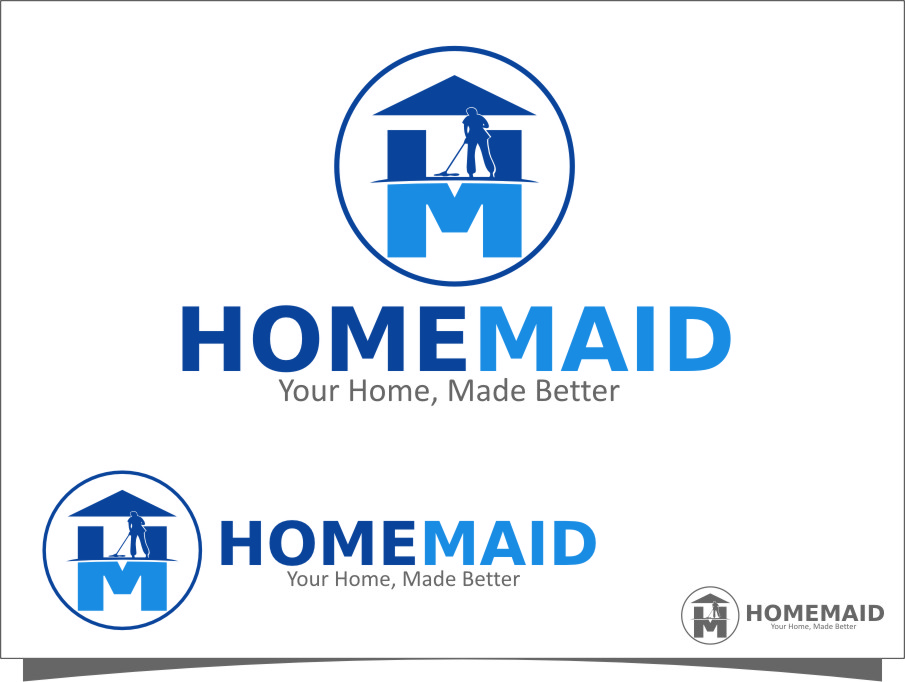 Logo Design by Ngepet_art - Entry No. 57 in the Logo Design Contest Unique Logo Design Wanted for HomeMaid.