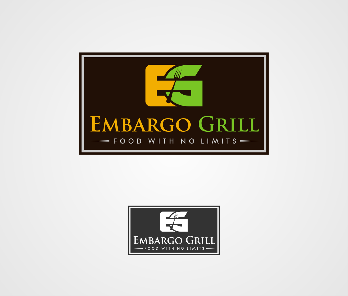 Logo Design by haidu - Entry No. 26 in the Logo Design Contest Captivating Logo Design for Embargo Grill.