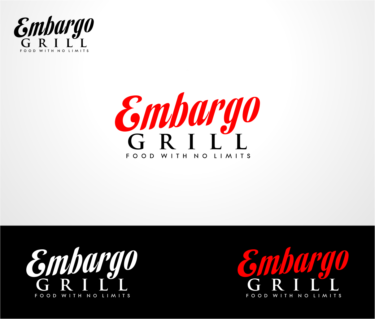 Logo Design by haidu - Entry No. 27 in the Logo Design Contest Captivating Logo Design for Embargo Grill.