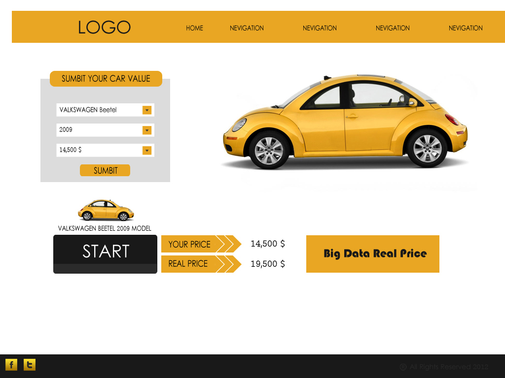 Web Page Design by Tathastu Sharma - Entry No. 32 in the Web Page Design Contest Car valuation Web Page Design.