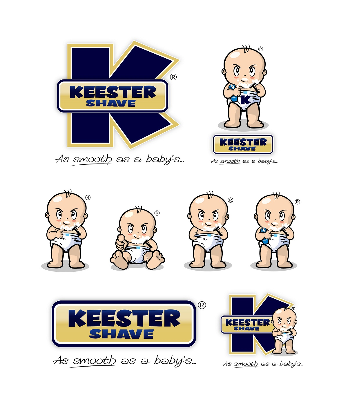 Logo Design by kowreck - Entry No. 27 in the Logo Design Contest Logo Design Needed for Exciting New Company Keester Shave.