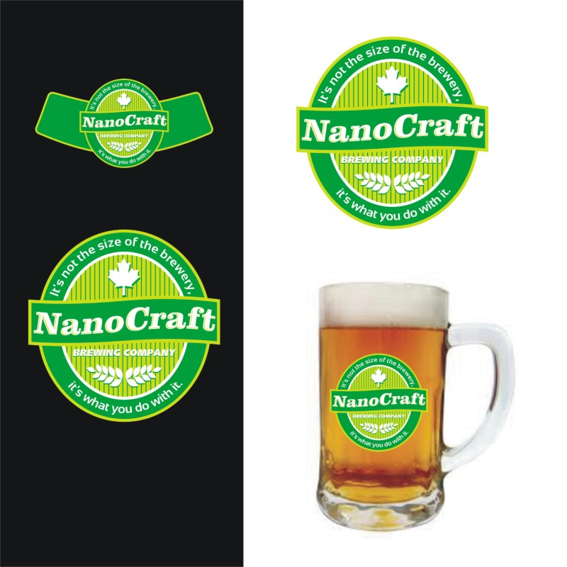 Logo Design by Private User - Entry No. 42 in the Logo Design Contest Unique Logo Design Wanted for NanoCraft Brewing Company.