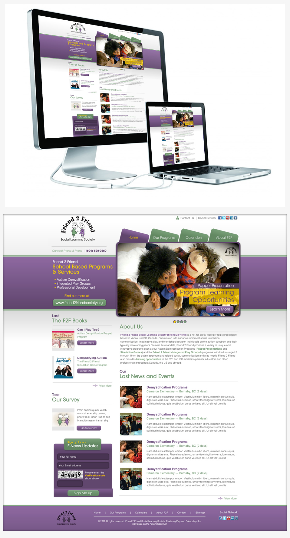 Web Page Design by Juma Studio - Entry No. 8 in the Web Page Design Contest Web Page Design Needed for Exciting New Company Friend 2 Friend Social Learning Society.