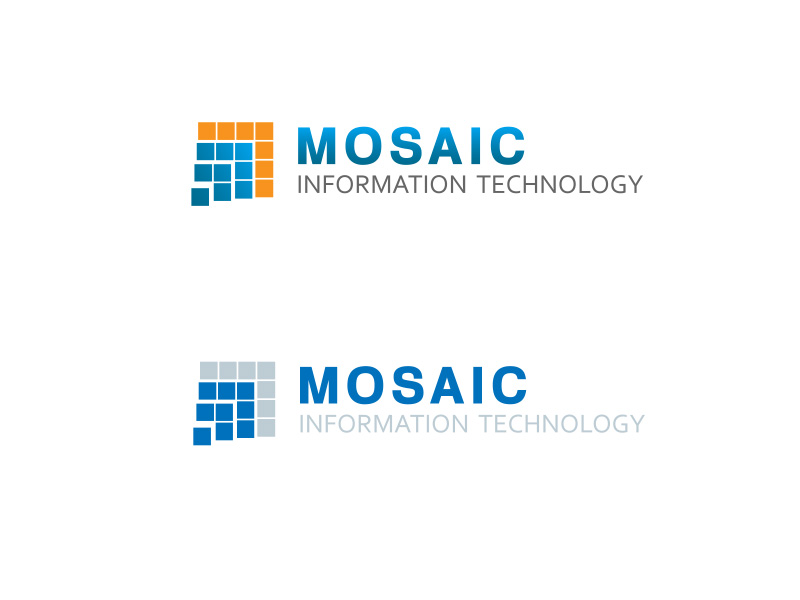 Logo Design by ddamian_dd - Entry No. 16 in the Logo Design Contest Mosaic Information Technology Logo Design.