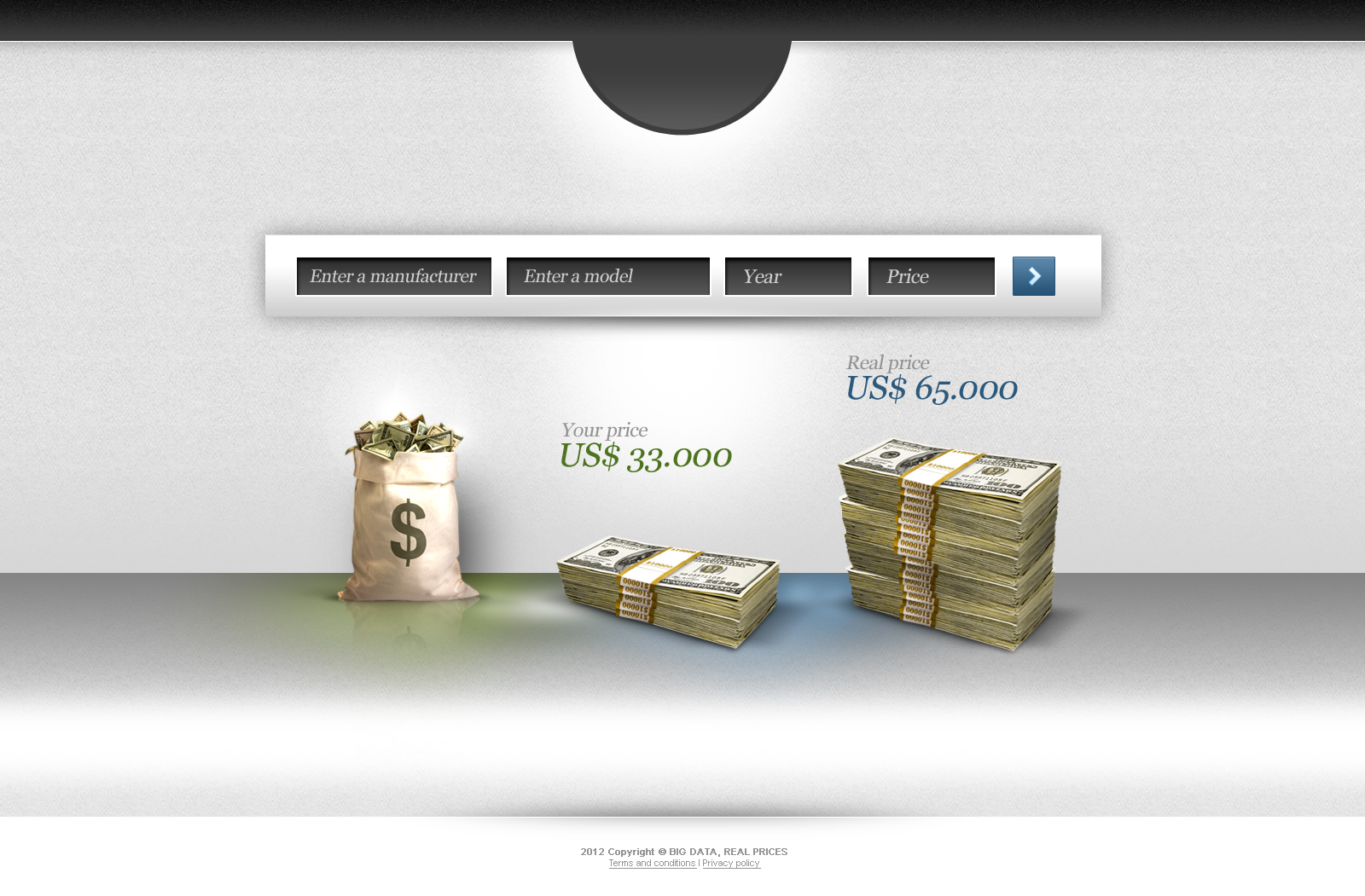 Web Page Design by John - Entry No. 102 in the Web Page Design Contest Car valuation Web Page Design.