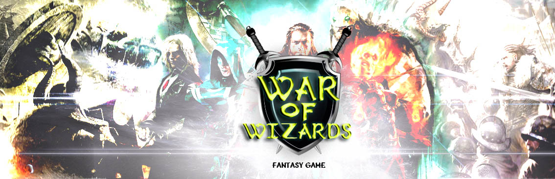Banner Ad Design by Private User - Entry No. 3 in the Banner Ad Design Contest Banner Ad Design - War of Wizards (fantasy game).
