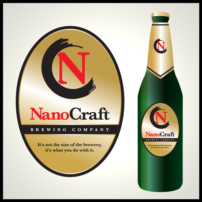 Logo Design by Number-Eight-Design - Entry No. 40 in the Logo Design Contest Unique Logo Design Wanted for NanoCraft Brewing Company.