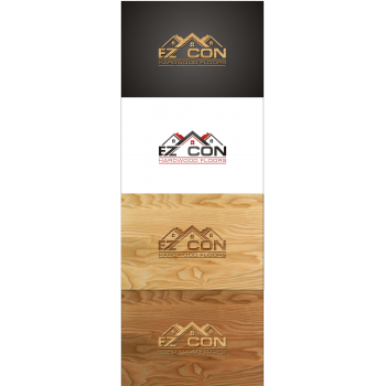 Artistic Logo Design For EZ CON Hardwood Floors