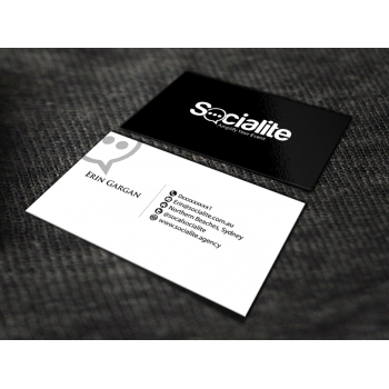 Business card design contests socialite llc business card design new business card by renren for egargan colourmoves