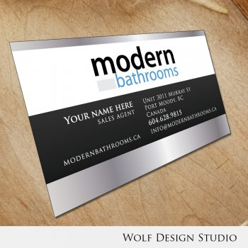 New business card by wolf for modernbathrooms