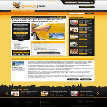 Web Page Design Contests » SwarmJam.com website facelift » Page 1 ...