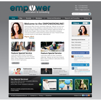 New web page by kreativeFingers for Empowered