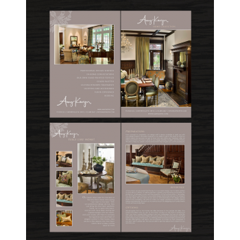set: Print Design Needed for Interior Design Company Amy Karyn Inc