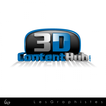 New logo by Les-Graphistes for 3DContentHub
