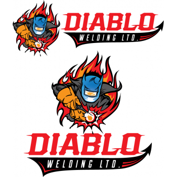 New logo by Vince for diabloweldingltd.