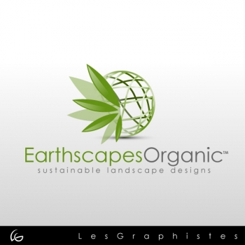 New logo by Les-Graphistes for earthscapes