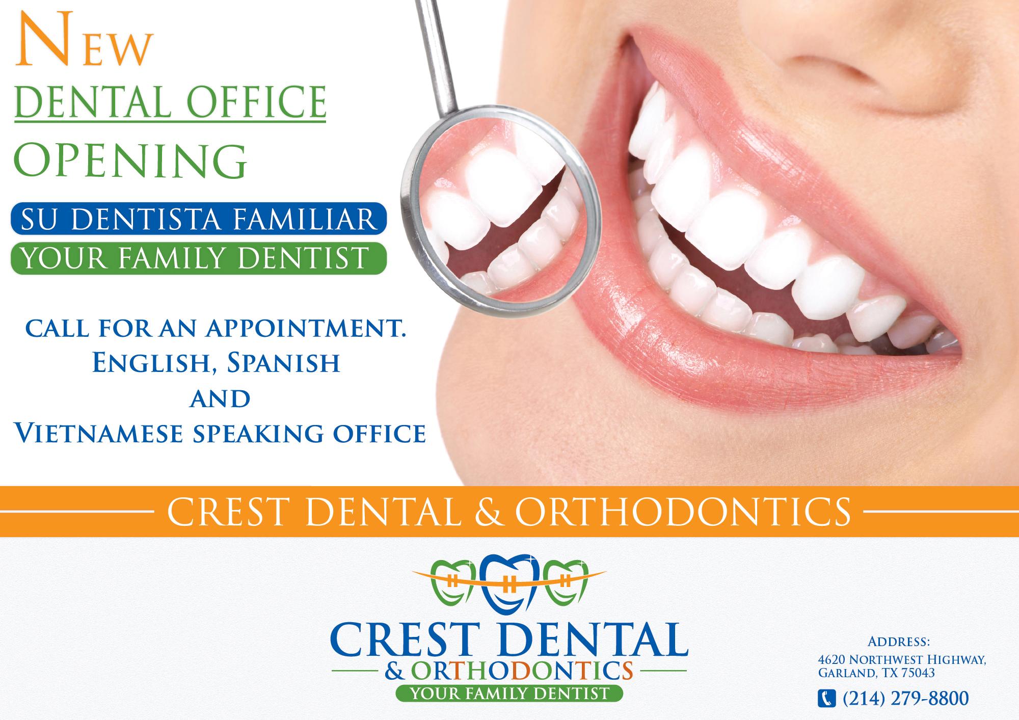 Flyer & Post Card Design for New Dental Office | HiretheWorld