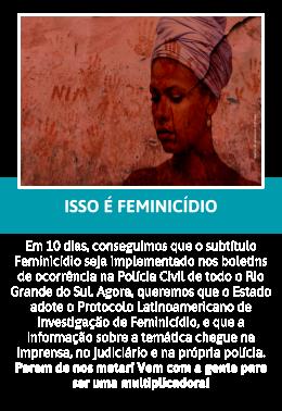 Não é crime passional, #issoéfeminicidio