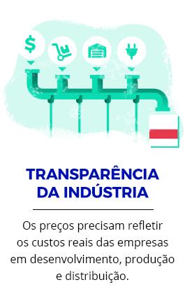 TRANSPARÊNCIA DA INDÚSTRIA | Os preços precisam refletir os custos reais das empresas em desenvolvimento, produção e distribuição.