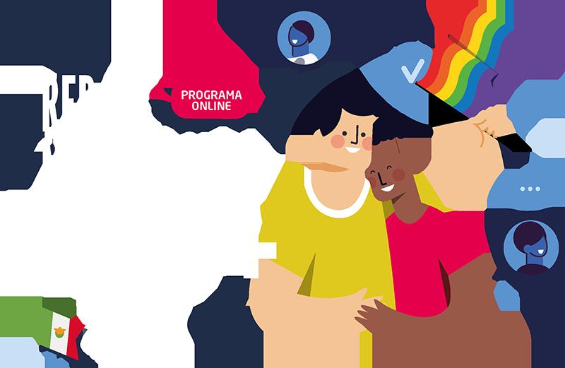 Programa online. Red de movilización LGBT+ México
