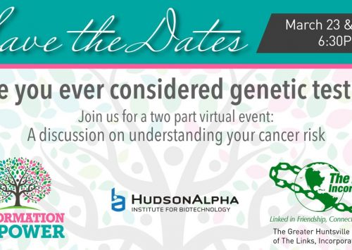 HudsonAlpha, The Links to address healthcare disparities and benefits of genetic testing at virtual events