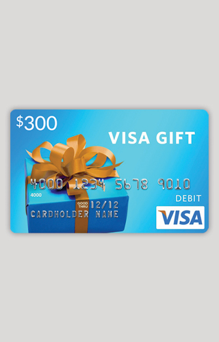 $300 Visa Gift Card Sweepstakes