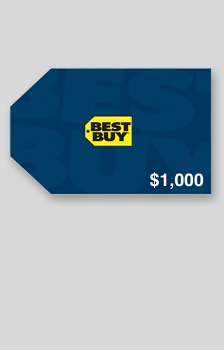 $1,000 Best Buy Gift Card Sweepstakes