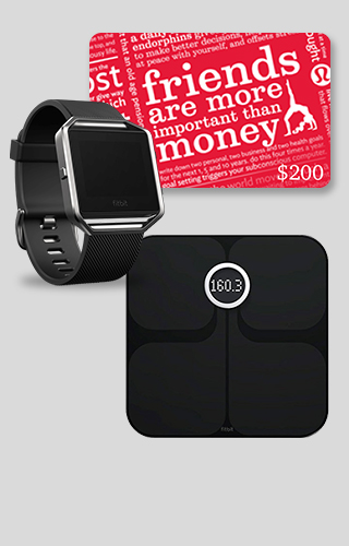 Fitbit and Lululemon Package