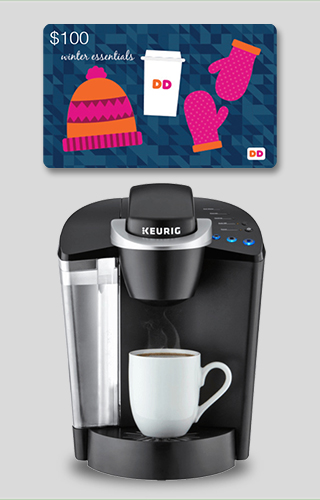 Keurig® K50 Coffee Maker + $100 Dunkin Donuts Gift Card