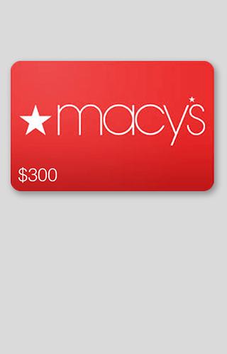 $300 Macy's Gift Card