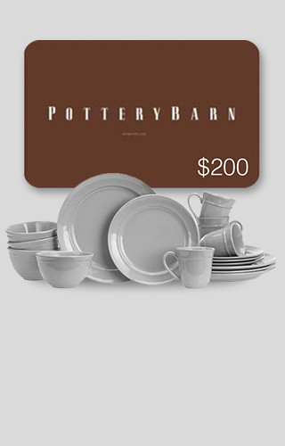 16-piece Dinnerware Set + $200 Pottery Barn Gift Card Sweepstakes