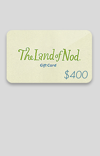 Tirage d'une carte-cadeau The Land of Nod de 400 $