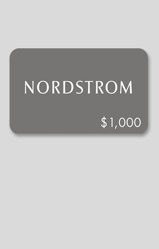 $1,000 Nordstrom Gift Card Sweepstakes