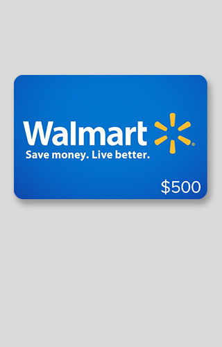 $500 Walmart Gift Card Sweepstakes