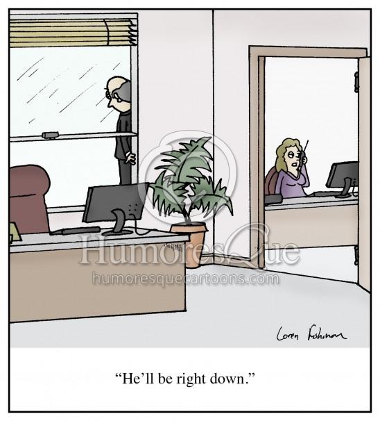 corporate suicide cartoon