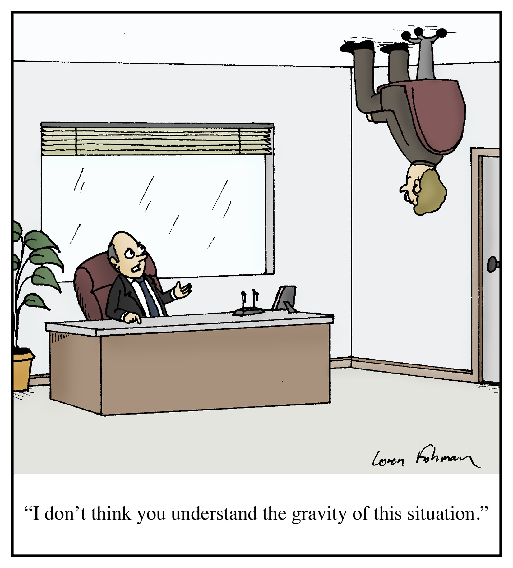 gravity of situation cartoon