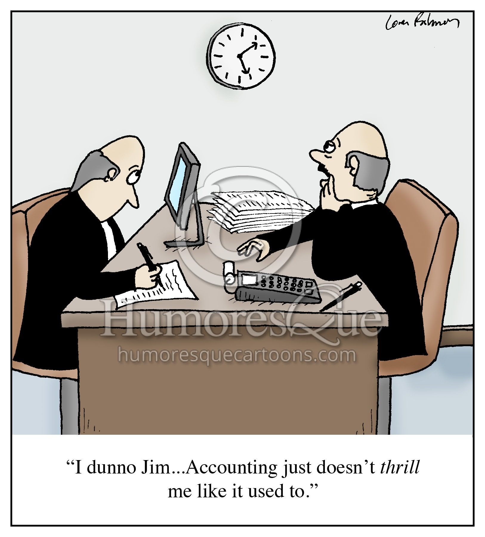 accountant not getting thrill out of accounting cartoon