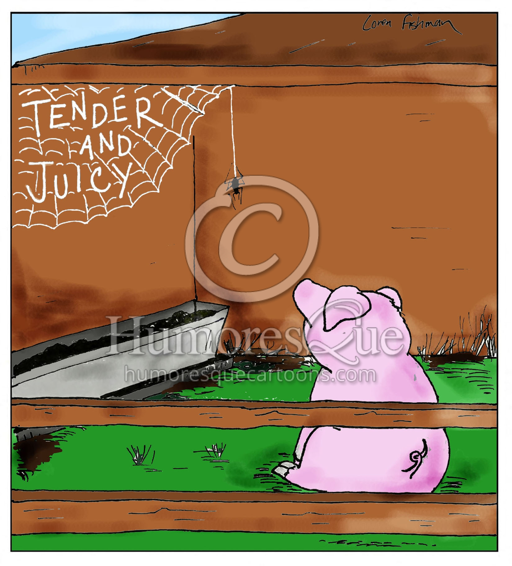 charlotte's web says tender and juicy cartoon