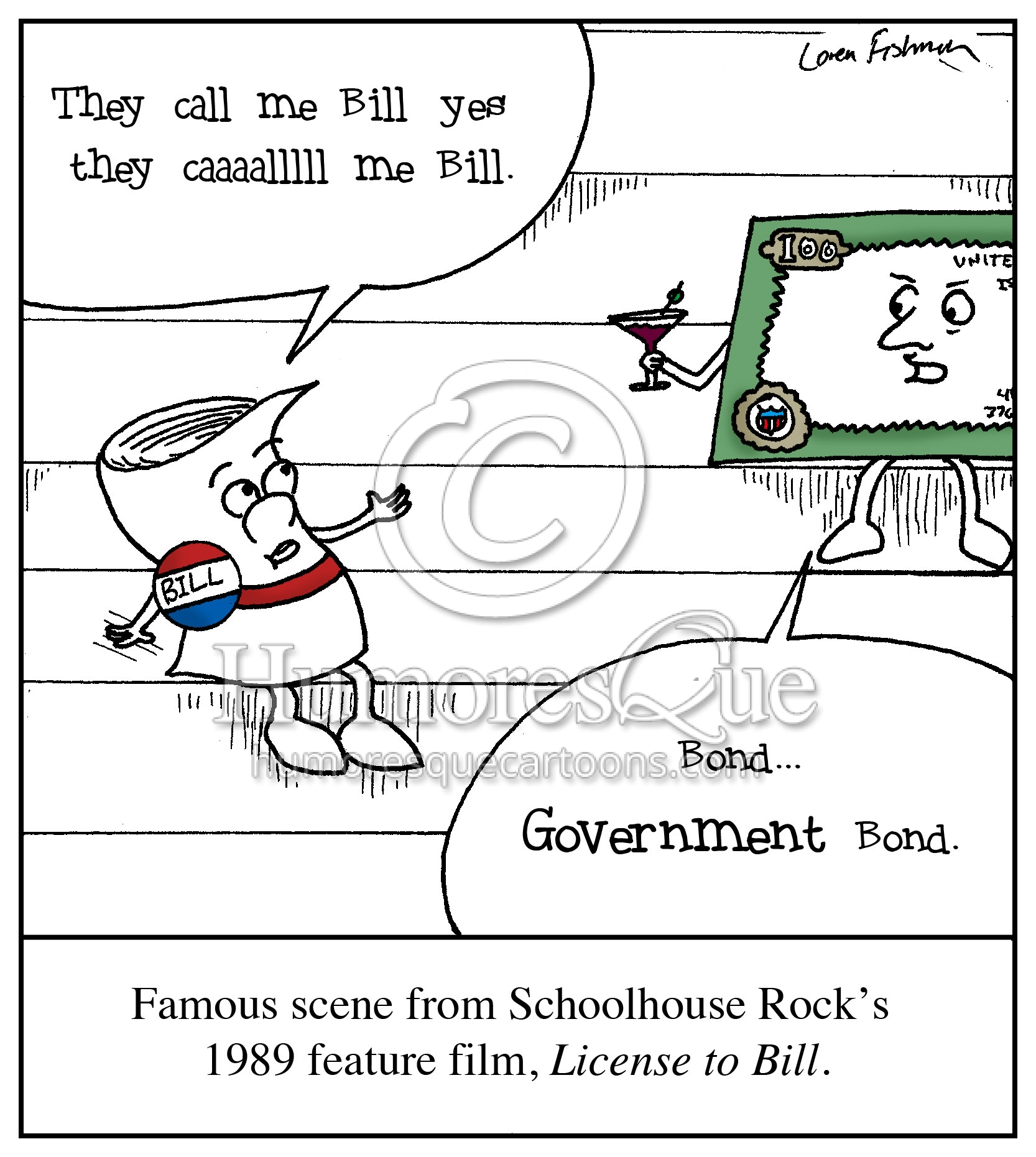 license to bill schoolhouse rock parody cartoon