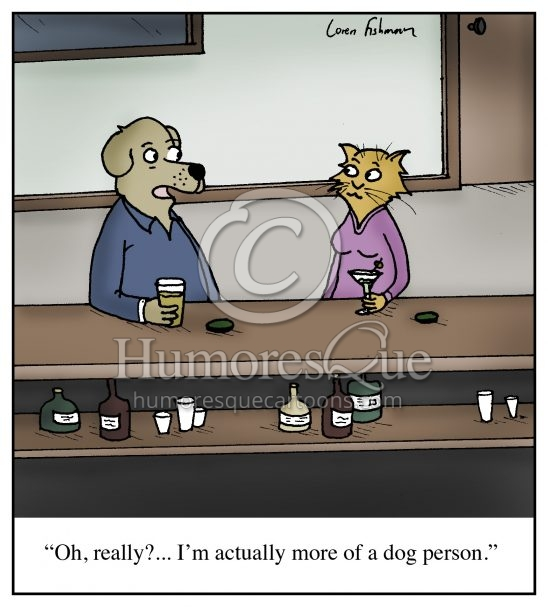 dog people vs cat people cartoon