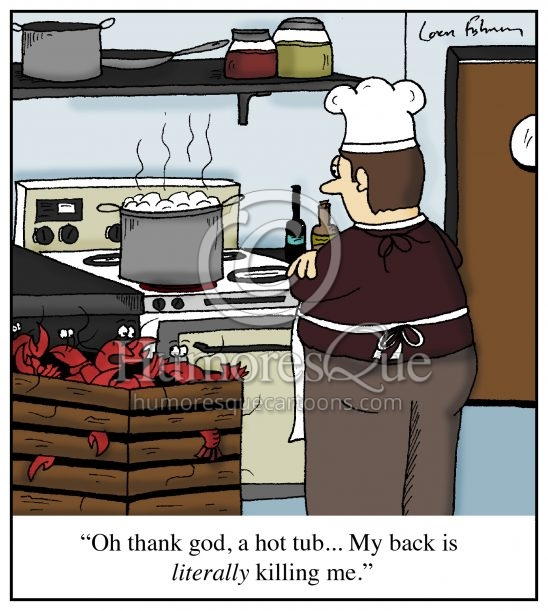 lobster thinks the pot is a hot tub cartoon