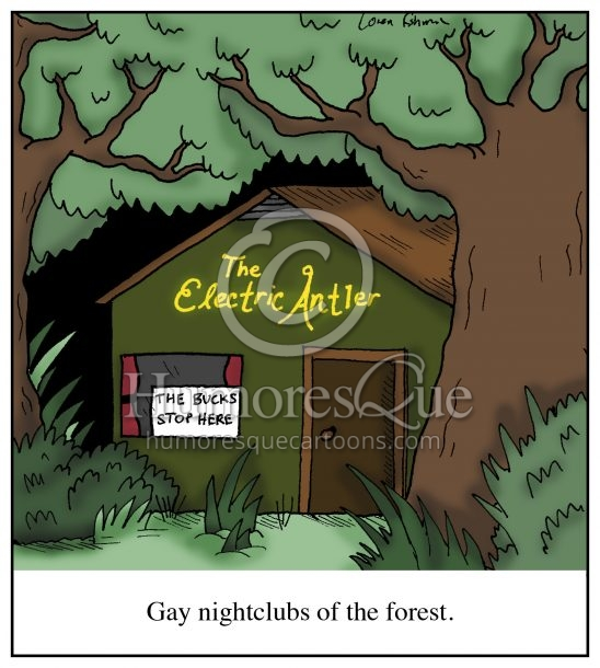gay nightclubs electric antler cartoon