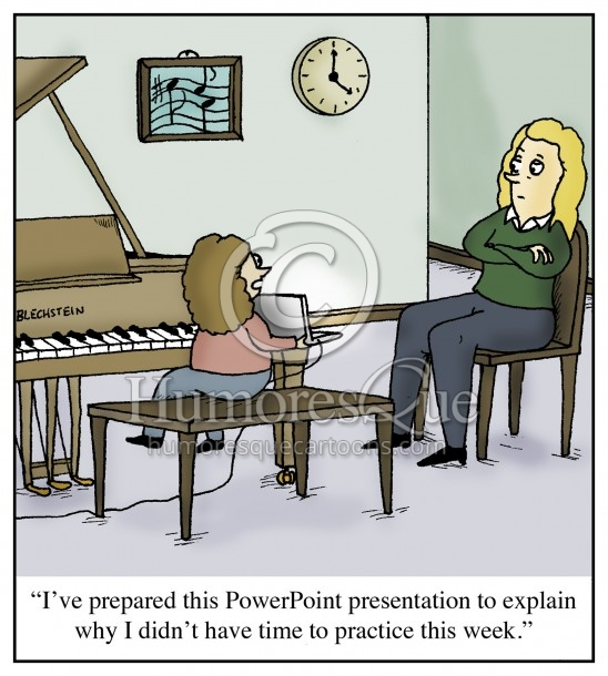 piano lesson powerpoint practicing cartoon