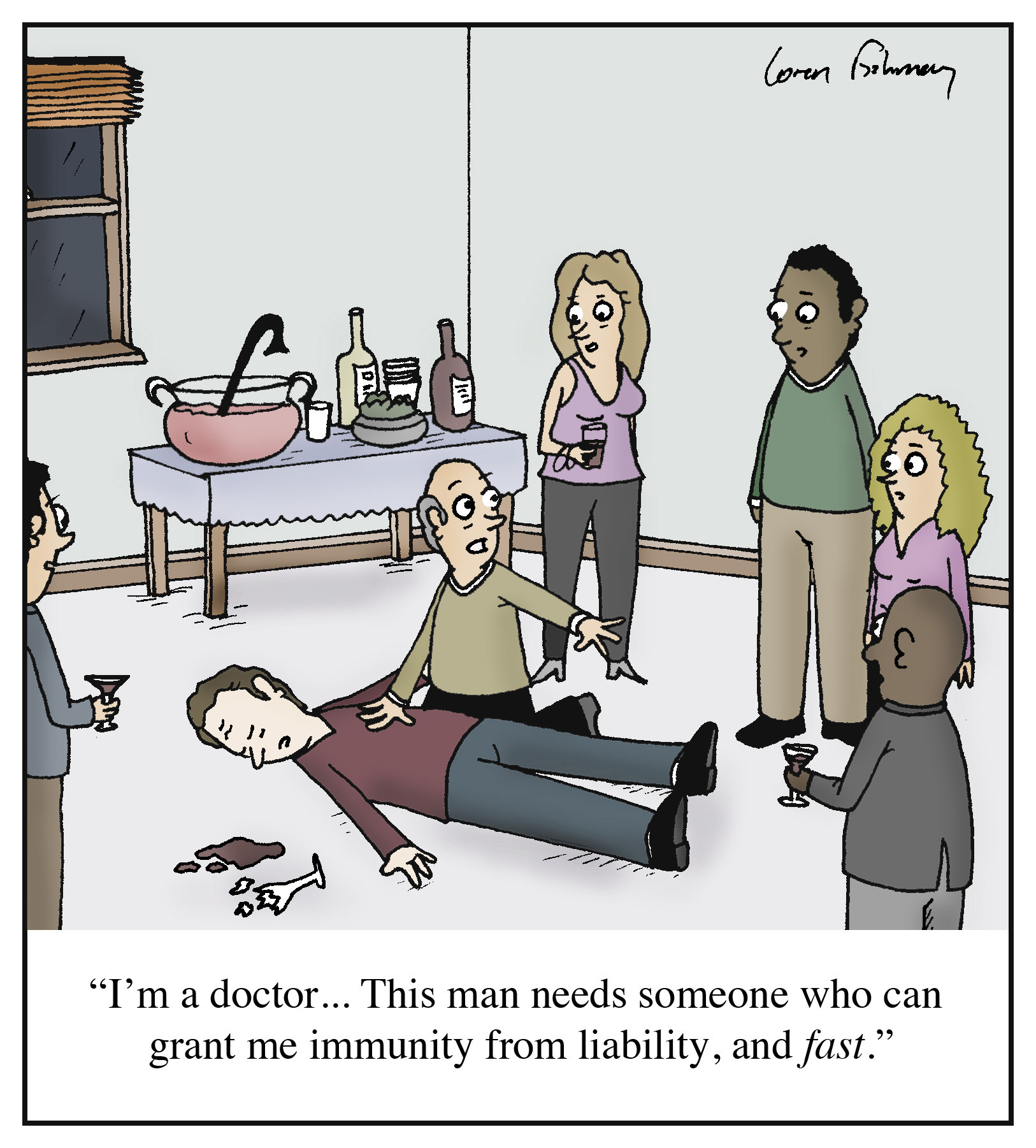 Cartoon Quot I M A Doctor This Man Needs Someone Who Can