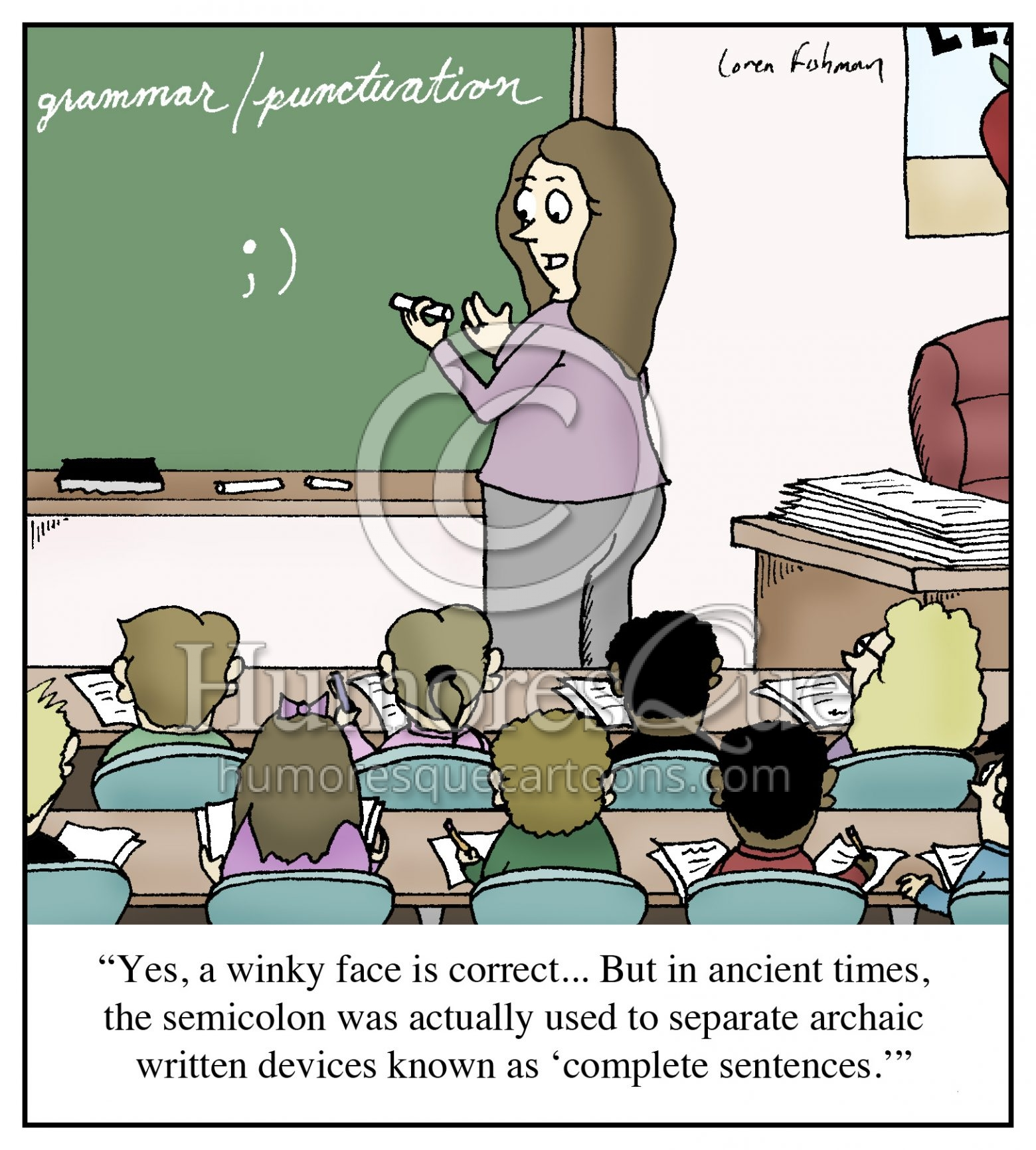 semicolon use grammar cartoon