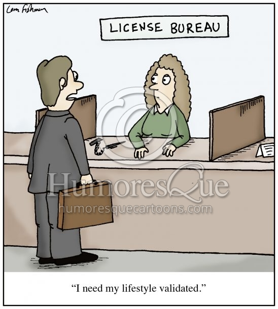 lifestyle validation cartoon