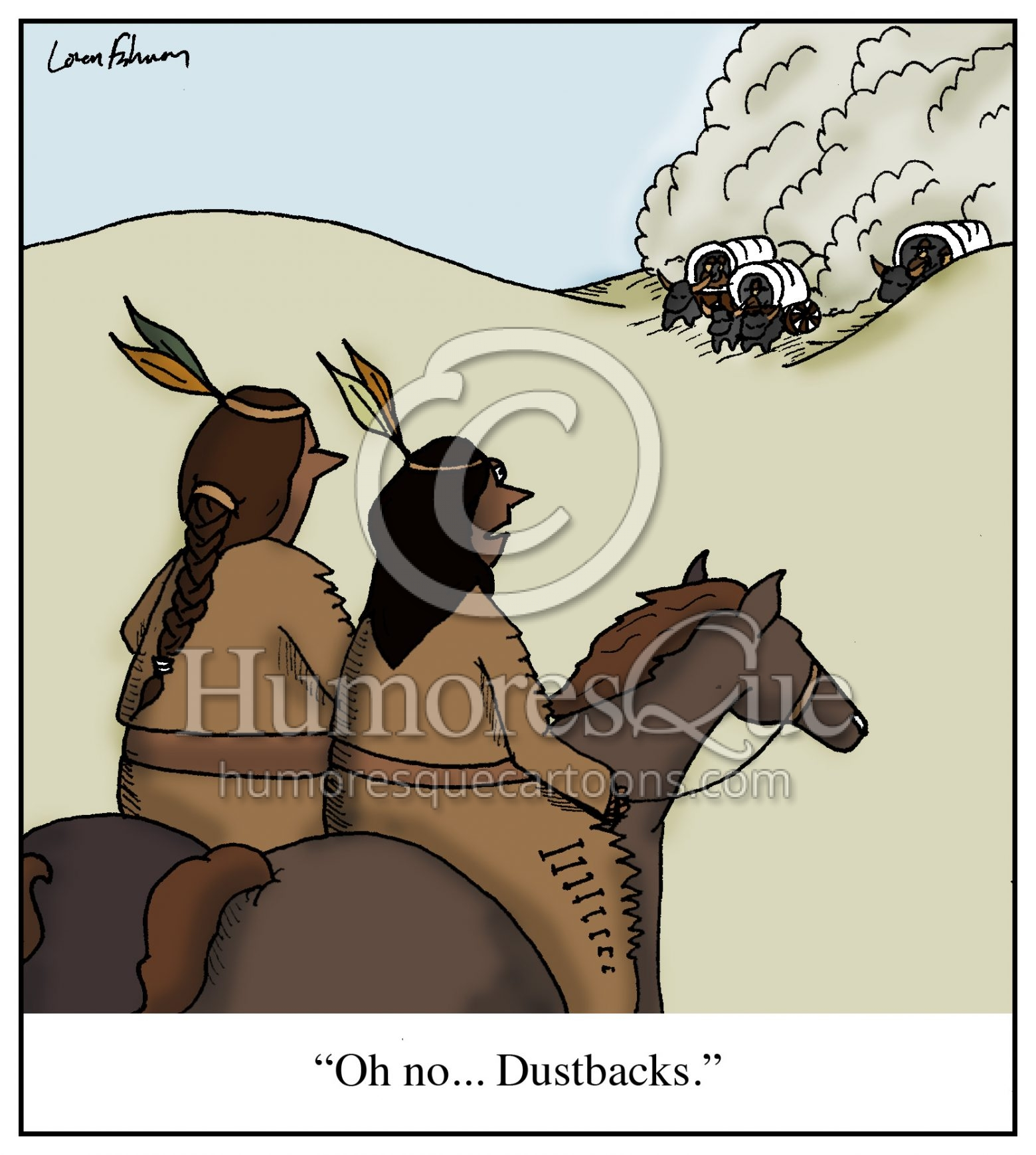 racism against native americans dustbacks cartoon
