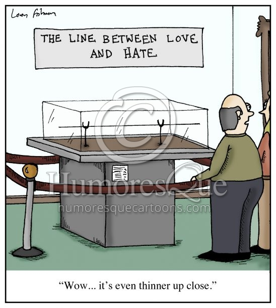 thin line between love and hate relationship cartoon