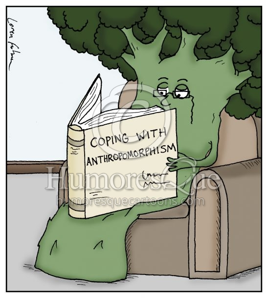 Coping with Anthropomorphism literature cartoon