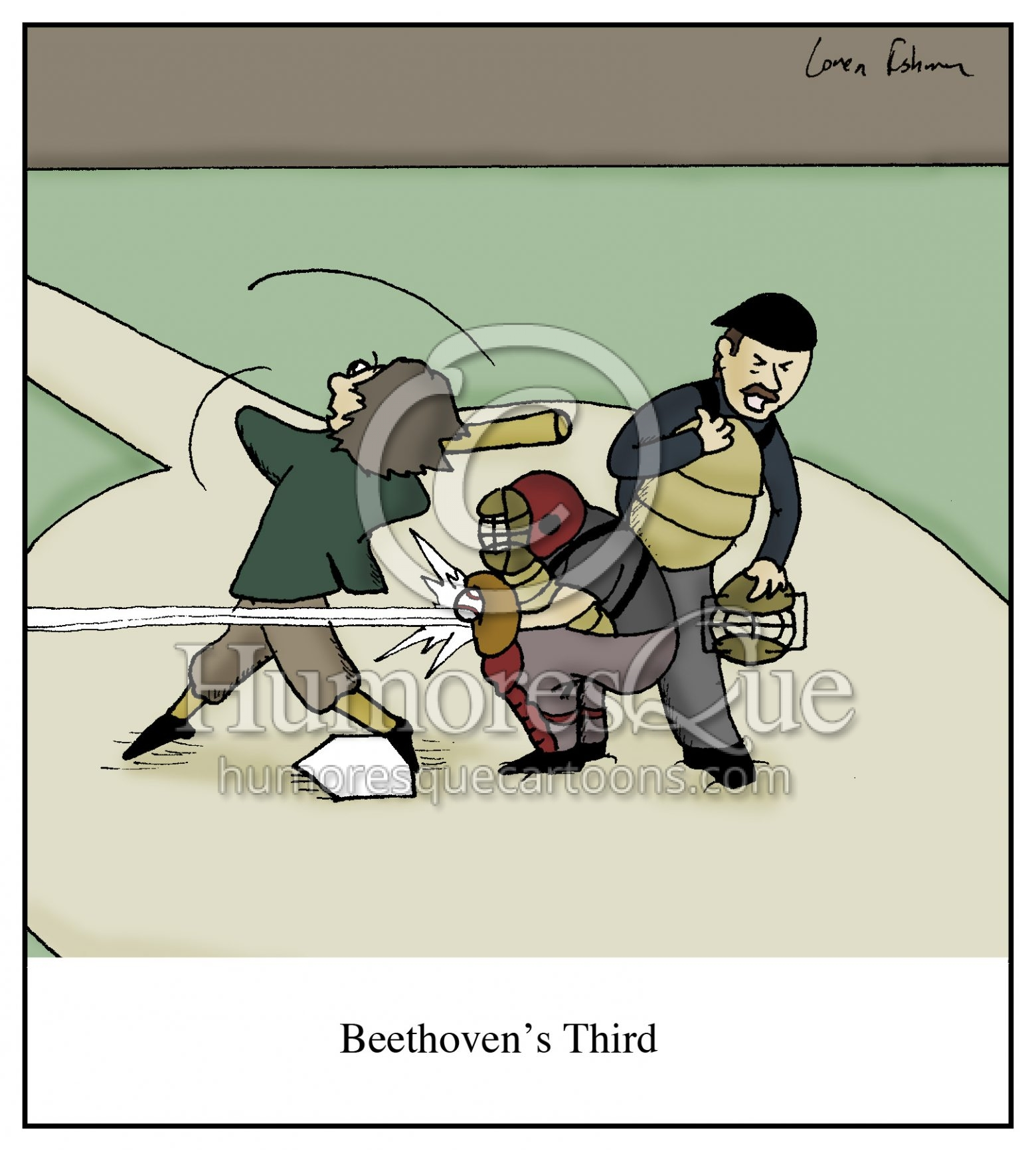 Beethoven's Third Symphony Baseball Cartoon